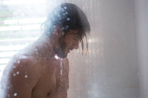 Keith in shower