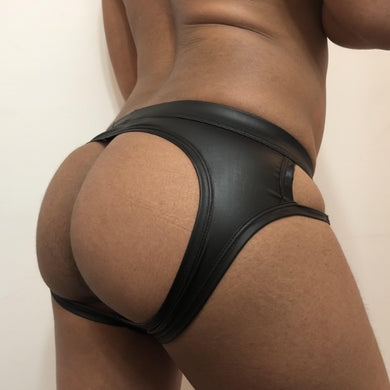 Backless Leather Underwear for Gay Men
