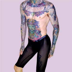 Super Gay Underwear - Matthew Leighton-Trew The Crosby Black See Through Nylon Long Johns