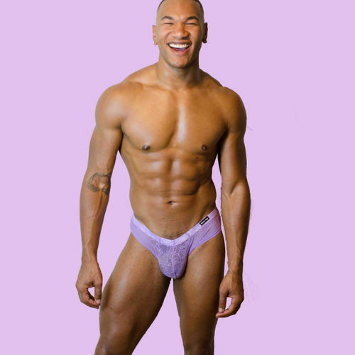 William Rock Evans The Miss Toto Purple The Chico Lace Lingerie Brief