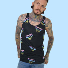 Super Gay Rainbow Logo Collage Tank Top