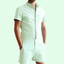 Gay Mens Rompers Romphims Super Gay Underwear Green Color for Spring and Summer