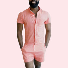 Gay Mens Rompers Romphims Super Gay Underwear Salmon Color for Spring and Summer
