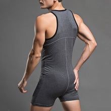 Super Gay Underwear - The Raymond Grey Polyester Mens Singlet Onesie