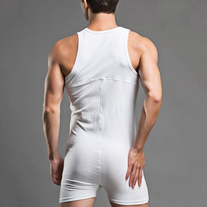 Super Gay Underwear - The Kenny White Polyester Mens Singlet Onesie