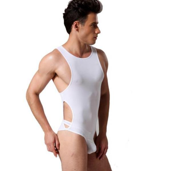 Super Gay Underwear for men The Harper Sexy Singlet Onesie made with Nylon