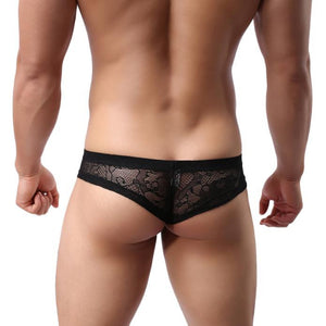 Super Gay Underwear - The Chico Black Nylon Bulge Pouch Mens Underwear Brief