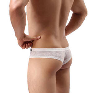 Super Gay Underwear - The Chico White Nylon Bulge Pouch Mens Underwear Brief