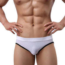 Super Gay Underwear - The Noah White Bulge Pouch Mens Underwear Backless Brief
