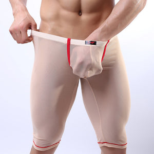 Super Gay Underwear - The Crosby Tan See Through Nylon Long Johns