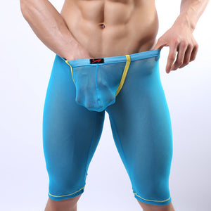 Super Gay Underwear - The Crosby Green See Through Nylon Long Johns