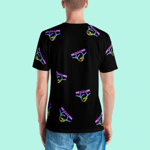 Black Rainbow Collage T-Shirt