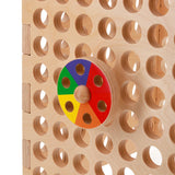 colour spinner on activity board