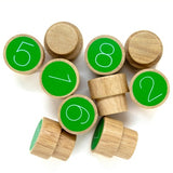 wooden numbers by muro