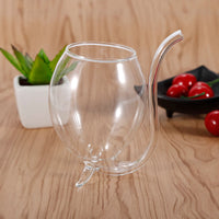 Novelty Wine Glasses with Built in Straw (Set of 2)
