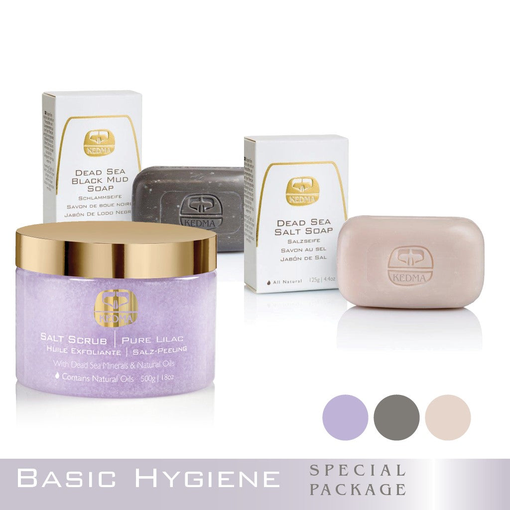 Kedma Basic Hygiene with Soap and Salt Scrub
