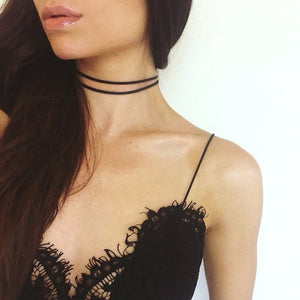 Gothic Leather Necklace