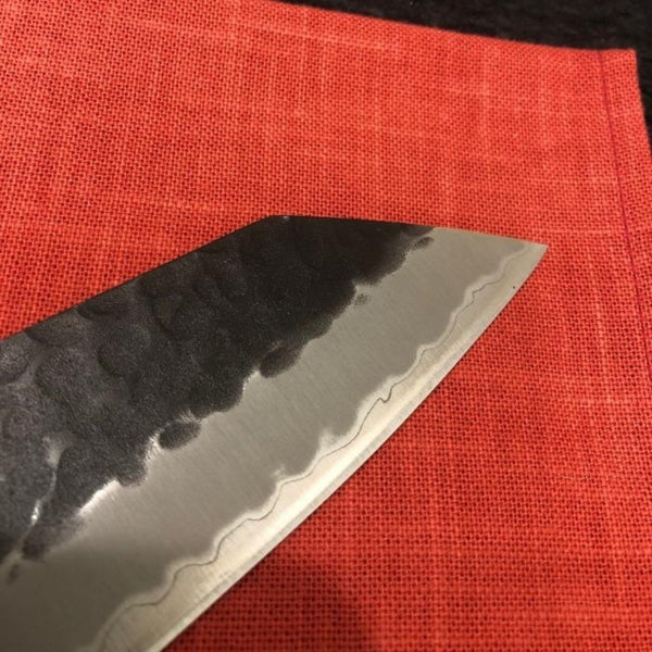 GOKADEN SUPER BLUE STEEL KIRITSUKE KNIFE-KUROUCHI FINISH