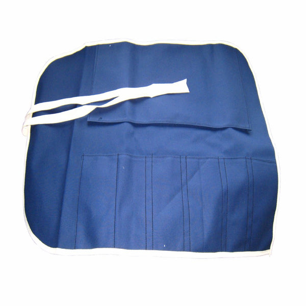 HITACHIYA COTTON KNIFE ROLL BAG with 6 POCKETS