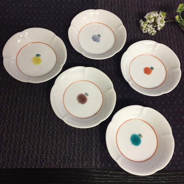 SMALL DISH (5 PIECE SET)-kutaniyaki
