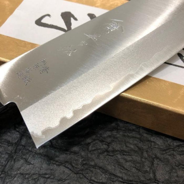GOKADEN BLUE STEEL SANTOKU KNIFE