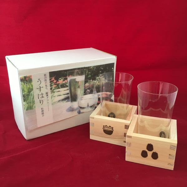 USUHARI  SHOTOKU SAKE GLASS SET- TUMBLER