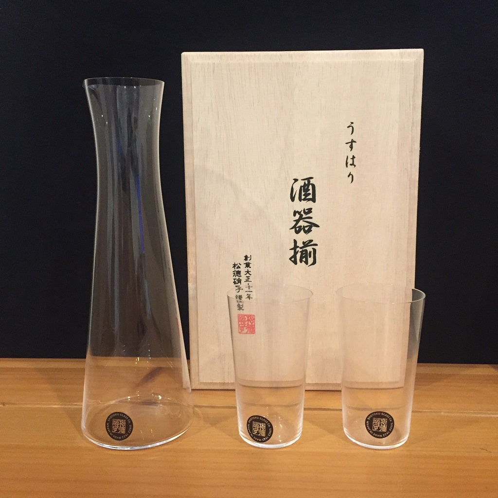USUHARI SHOTOKU GLASS SET -酒器揃