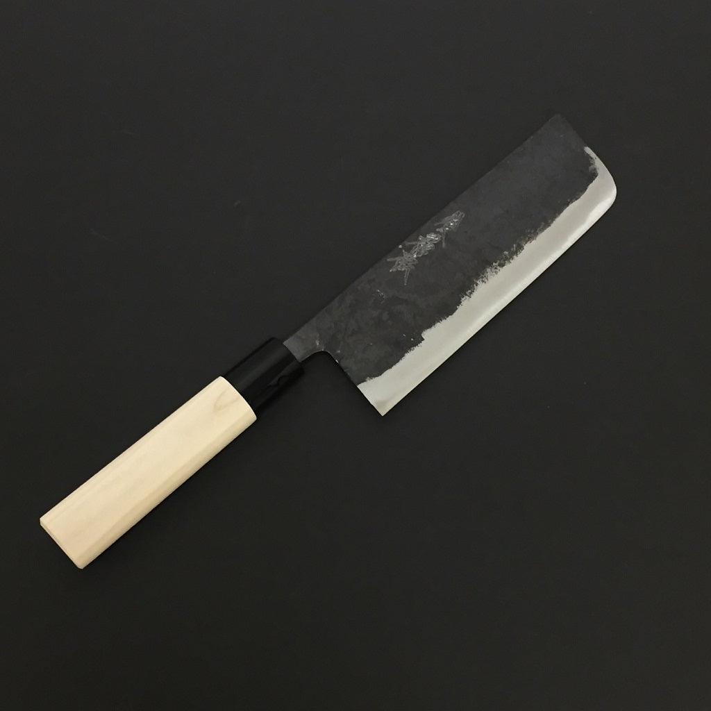 GOKADEN BLUE STEEL KUROUCHI FINISH - NAKKRI VEGETABLE KNIFE