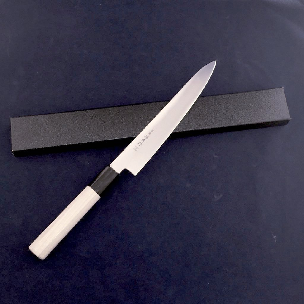 SAKAI TAKAYUKI GRAND CHEF PETTY KNIFE WITH WOODEN HANDLE