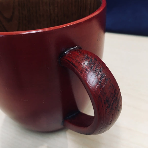 HAND CRAFTED WOODEN COFFEE CUP