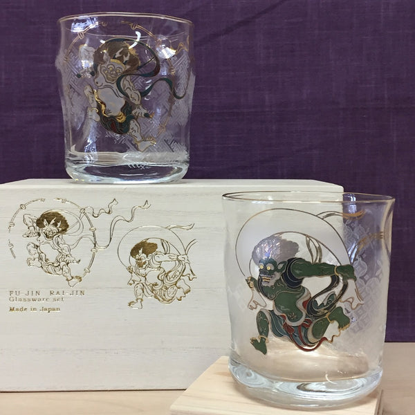 FU-JIN RAI-JIN GLASSWARE SET with WOODEN BOX