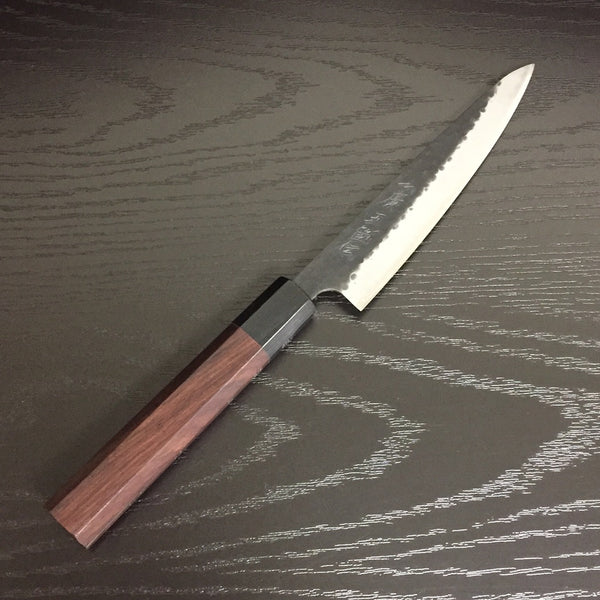 GOKADEN HAMMERED KUROUCHI FINISH PETTY/UTILITY KNIFE 135mm / 5.4""
