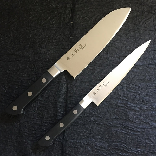 GOKADEN SANTOKU/PETTY KNIFE SET -STANDARD SERIES