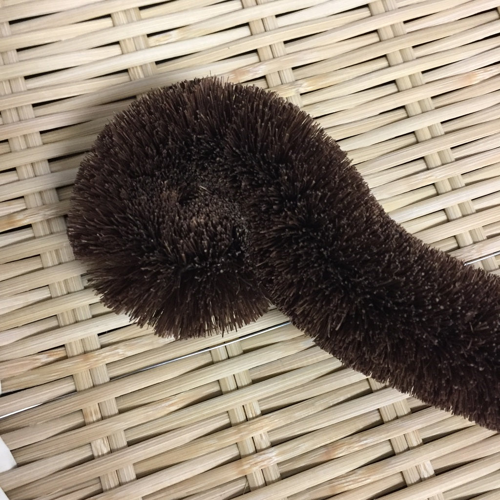 HEMP PALM SCRUBBING BRUSH / TAWASHI Cat hand