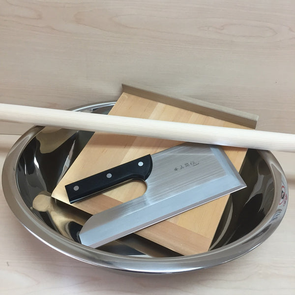 SOBA KIT (Stainless or Japanese Urushi Paint Kneading Bowl)- Let's make a homemade SOBA!