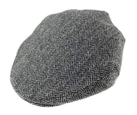 Glen Appin Country Cap - Grey Harris Tweed