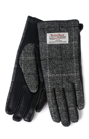Glen Appin Ladies Gloves - Grey Harris Tweed