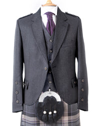 Crail Tweed Jacket and Vest - Charcoal