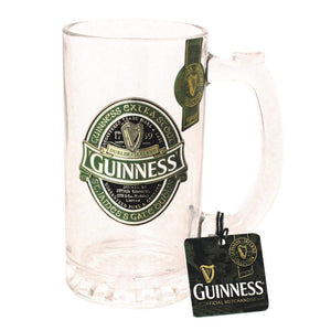 Guinness Glass Tankard w Badge