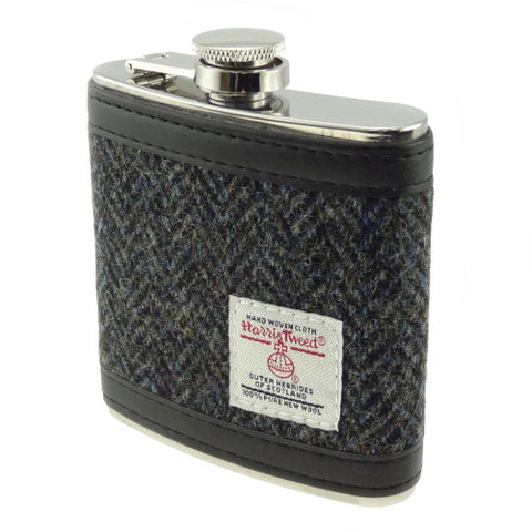 Glen Appin Harris Tweed Hip Flask
