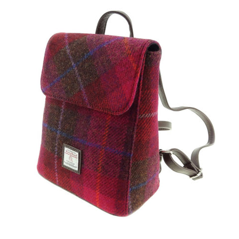 Glen Appin Harris Tweed Mini Backpack