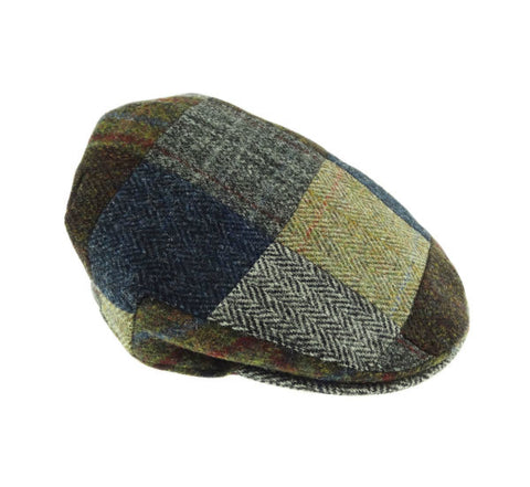 Glen Appin Country Cap - Patchwork Harris Tweed
