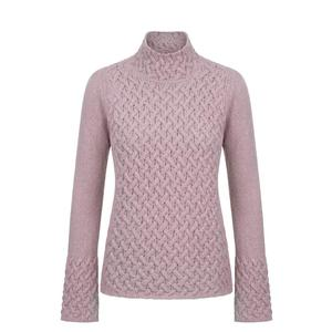 IrelandsEye Ladies Knitted Trellis Pullover - Pink