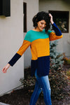 Jewel Tone Color Block Top