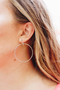 Hooped Simplicity Earrings In White Gold