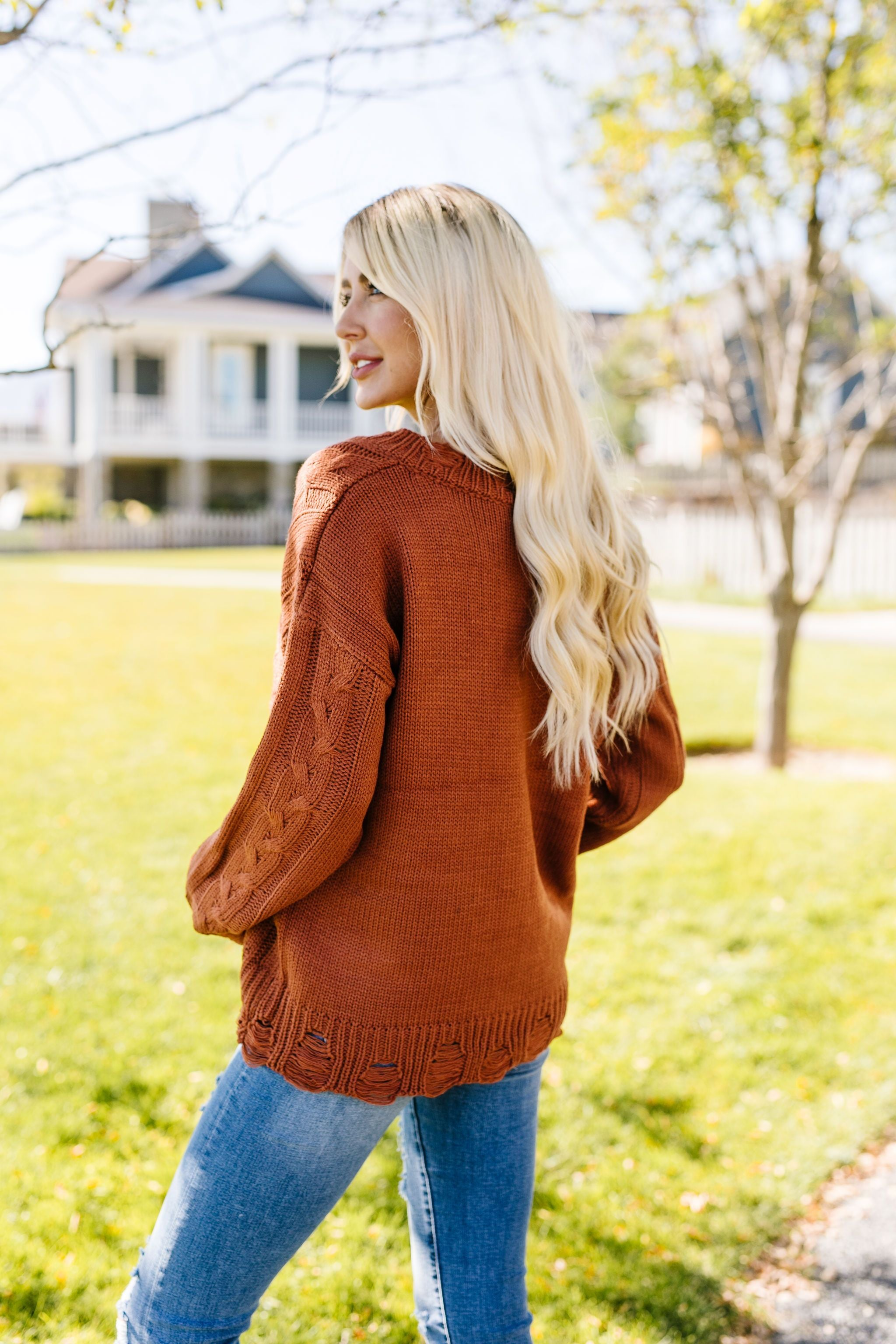 Rustic Retreat Cable Knit Sweater