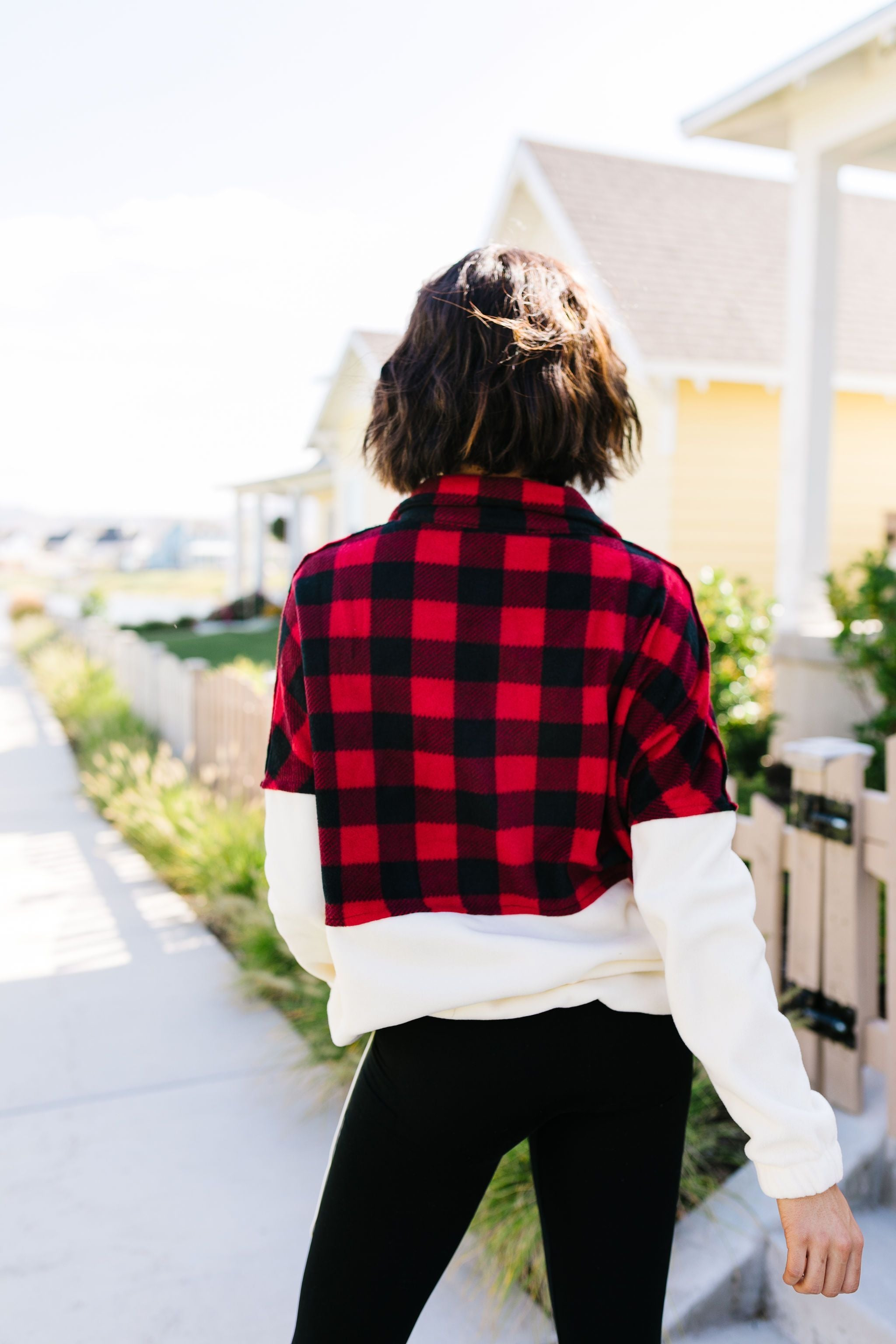 Buffalo Plaid Color Block Pullover