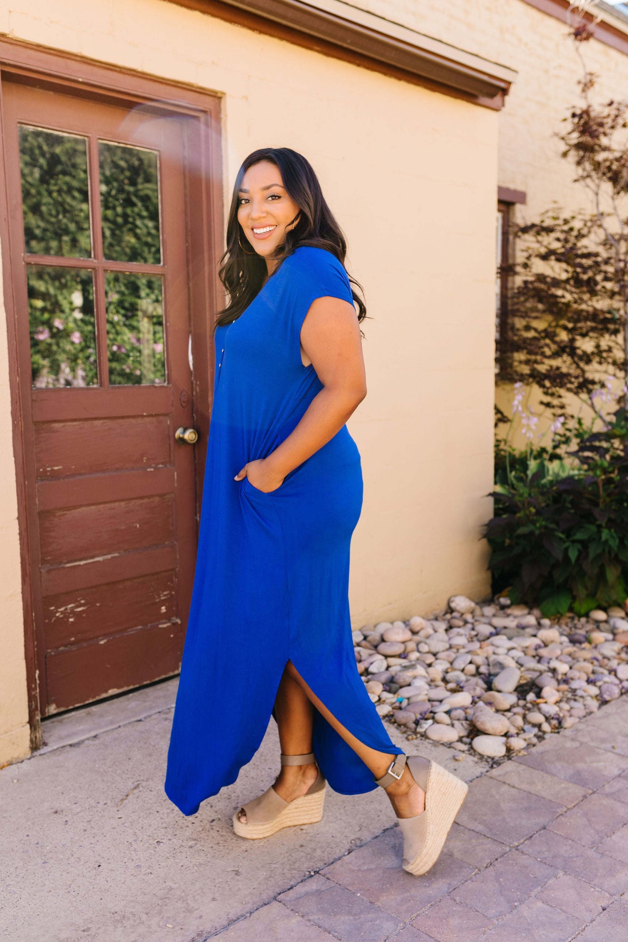 Chillax Summer Maxi In Royal Blue