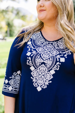 Embroidered Illusions Tunic