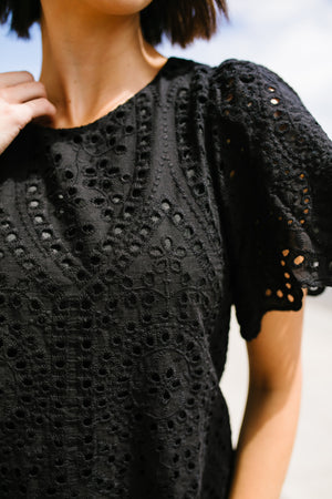 Eva Black Lace Dress